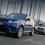 Зовём Cayenne рассудить BMW X5 M и Range Rover Sport SVR